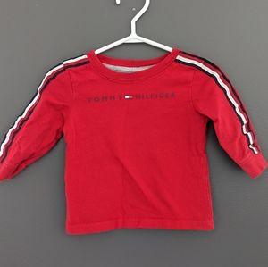 Tommy Hilfiger red crew neck sweatshirt